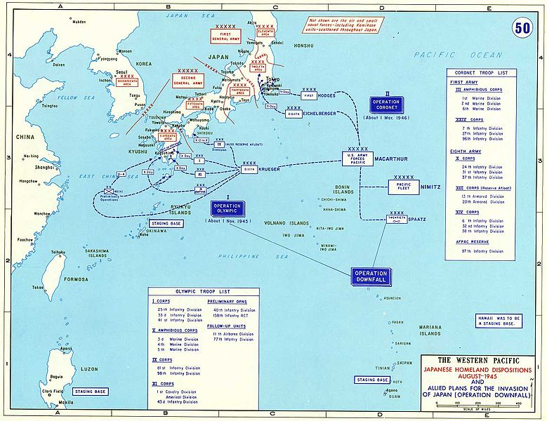 Operation Downfall-Map